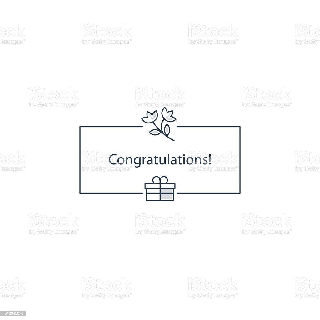 congratulation or invitation template stock vector art more images