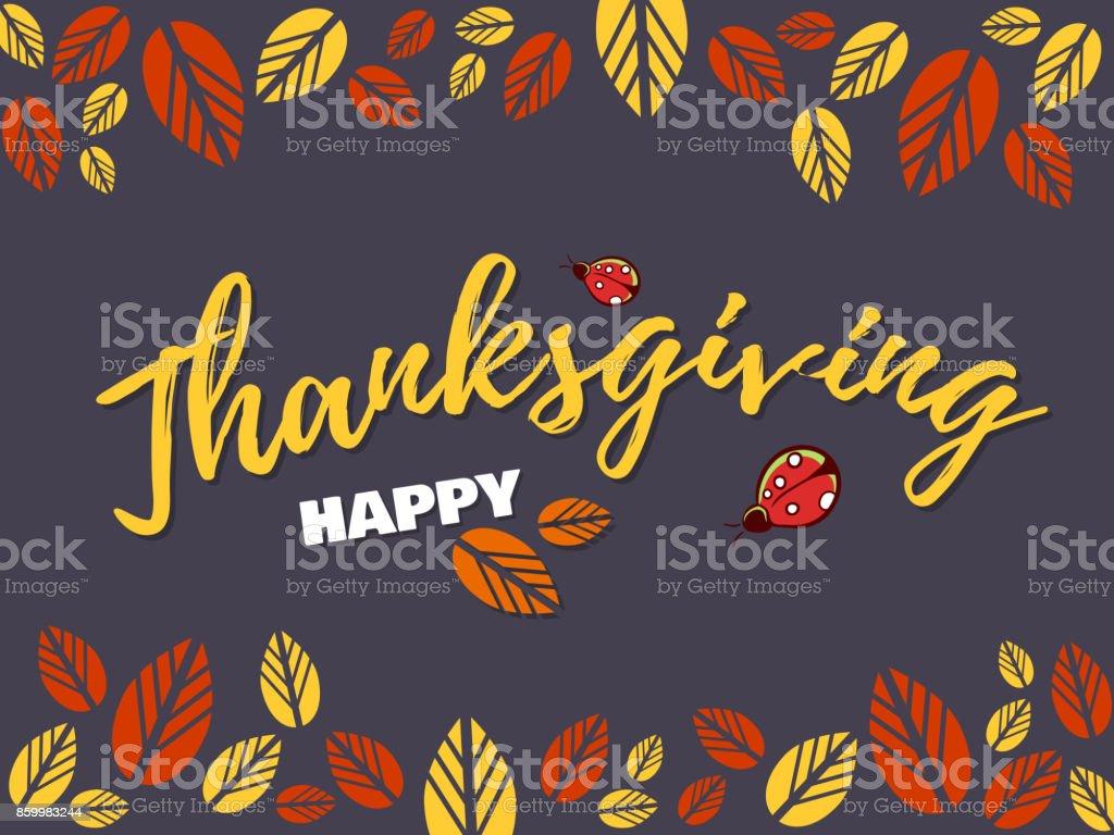Congratulation_Happy_Thanksgiving vector art illustration