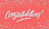istock Congratulations banner. Vector handwritten lettering. 1307790441