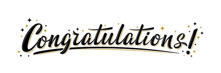 """Congratulations!"" bulk lettering greeting sign"