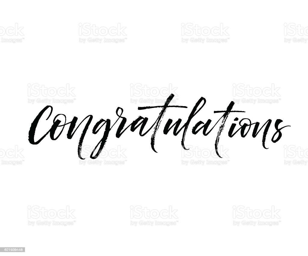 Congratulations card. vector art illustration
