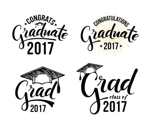 Congratulations graduate 2017 vector art illustration