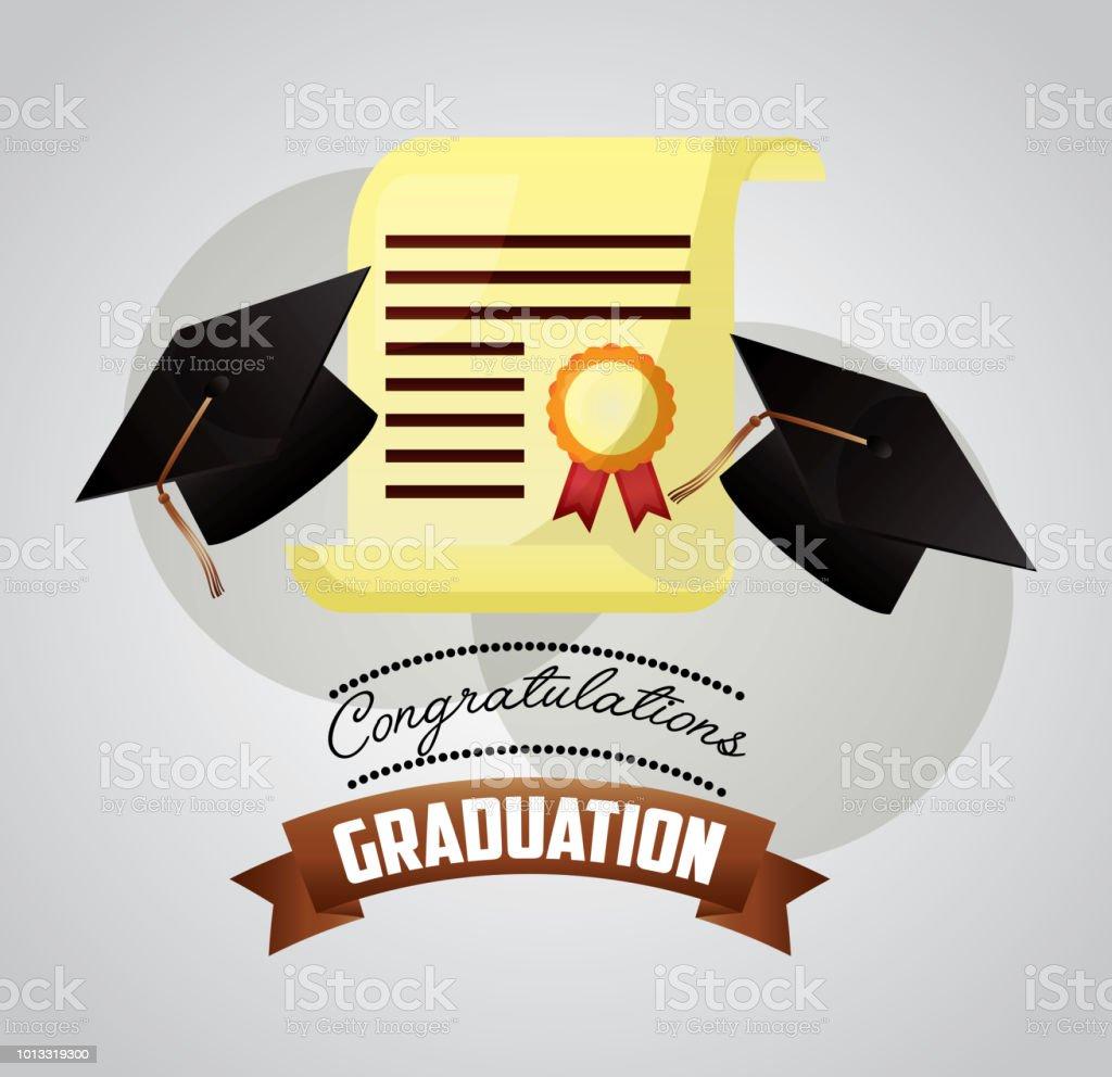 Congratulations Graduation Card Stock Vector Art More Images Of