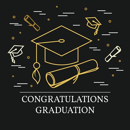 Congratulations graduation greeting card .