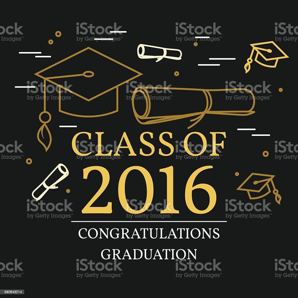 Congratulations Graduation Greeting Card Stock Vector Art More