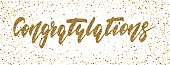 Congratulations - hand drawn lettering, modern brush pen calligraphy