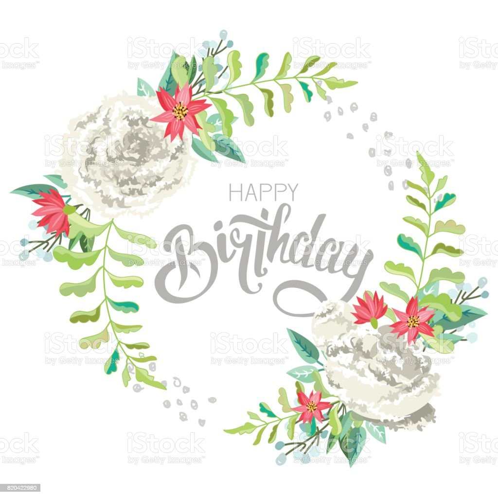 Congratulations happy birthday with flowers stock vector art more congratulations happy birthday with flowers royalty free congratulations happy birthday with flowers stock izmirmasajfo