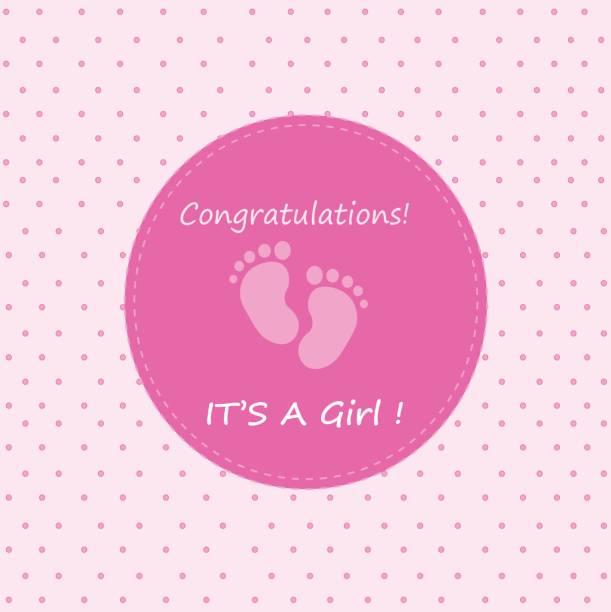 congratulations it's a girl congratulations it's a girl it's a girl stock illustrations