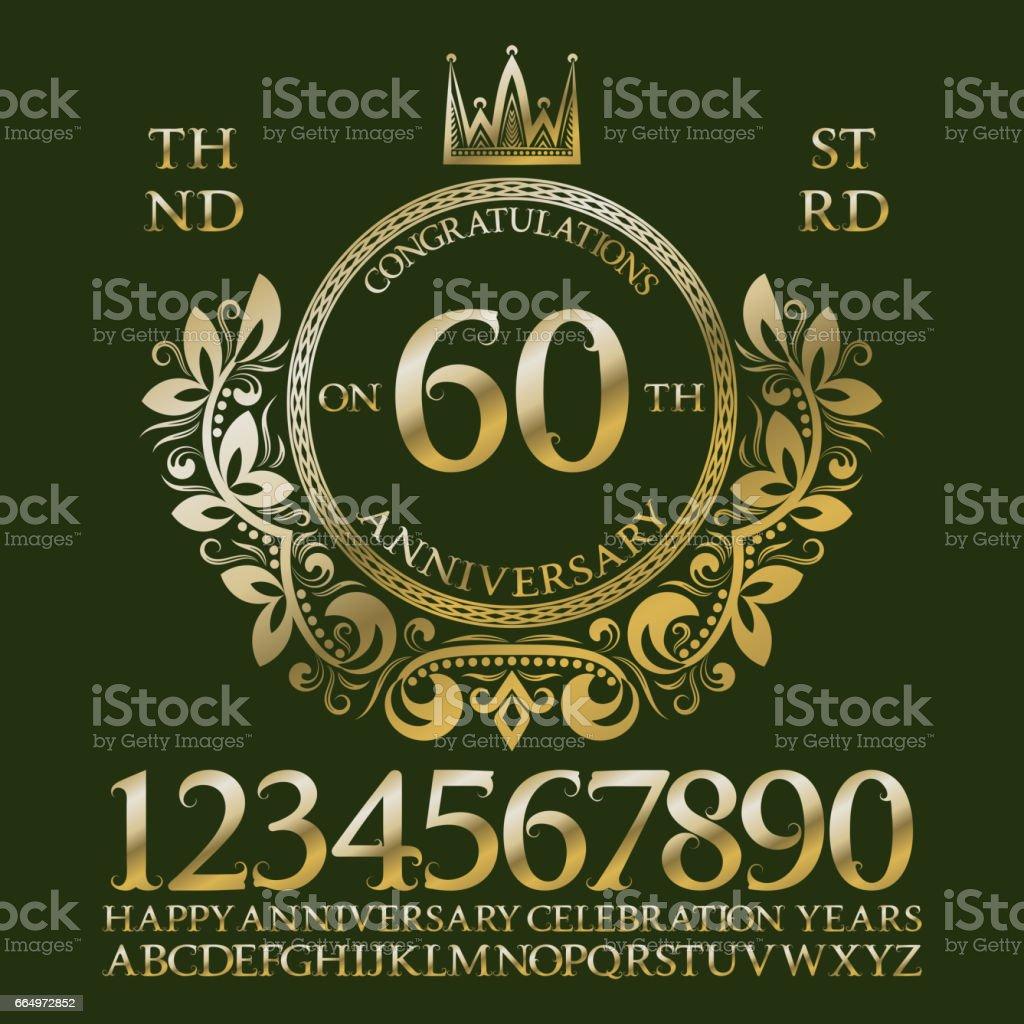 Herzlichen Glückwunsch Zum Jubiläum Unterzeichnen Kit Goldene Zahlen ...