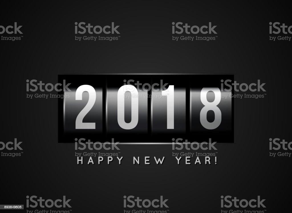 Herzlichen Glückwunsch Zum Neujahr 2018 Gegen Den Zähler