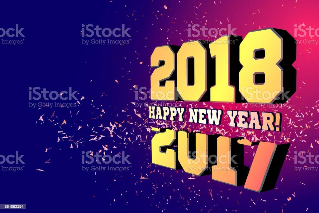 Herzlichen Glückwunsch Zum Neuen Jahr 2018 Die Nach 2017