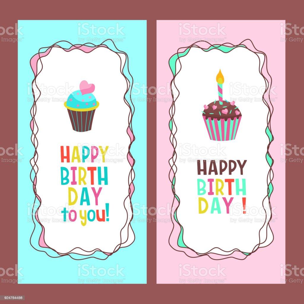 Ilustración de Felicidades Por Tu Cumpleaños Hermoso Lindos Pasteles ...