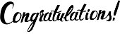 Congratulations original handwritten calligraphy