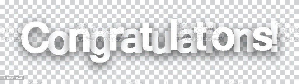 congratulations paper sign stock vector art 913027596 istock