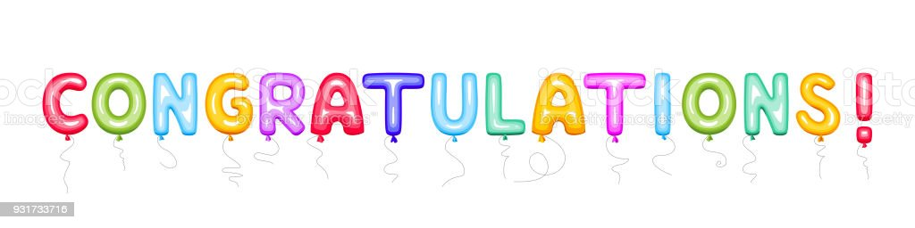 congratulations sign of color balloons stock vector art more