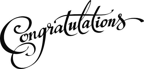 Royalty Free Congratulations Text Clip Art, Vector Images