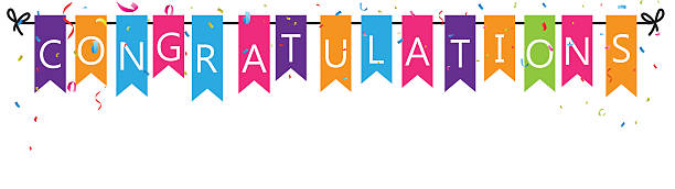 congratulations with bunting flags - congratulations stock illustrations, clip art, cartoons, & icons