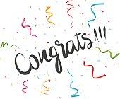 Congratulations with confetti