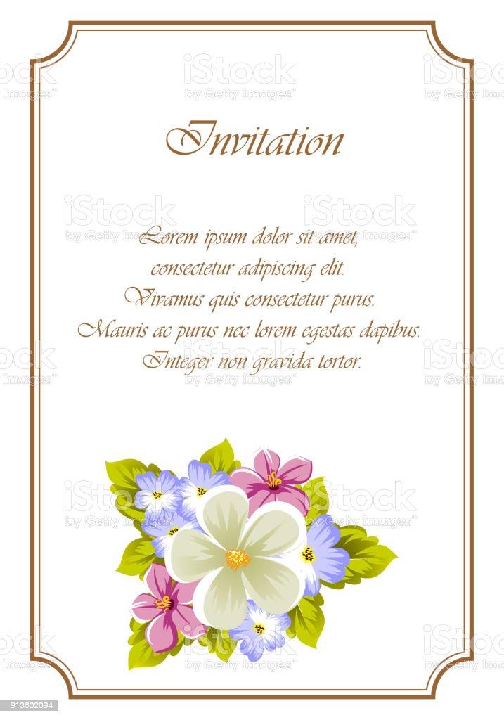 Glückwunsch Rahmen Aus Blumen Für Design Texturen Postkarten Party ...