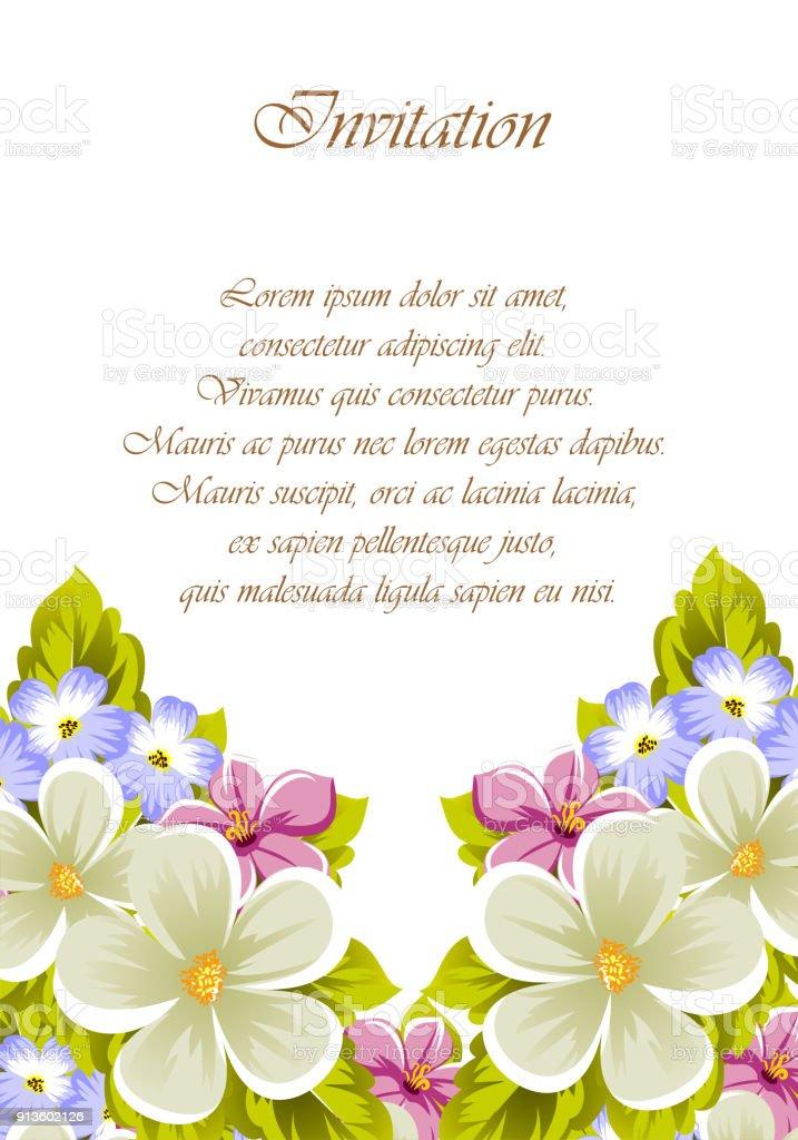 Glückwunsch Rahmen Aus Blumen Für Design Texturen Postkarten