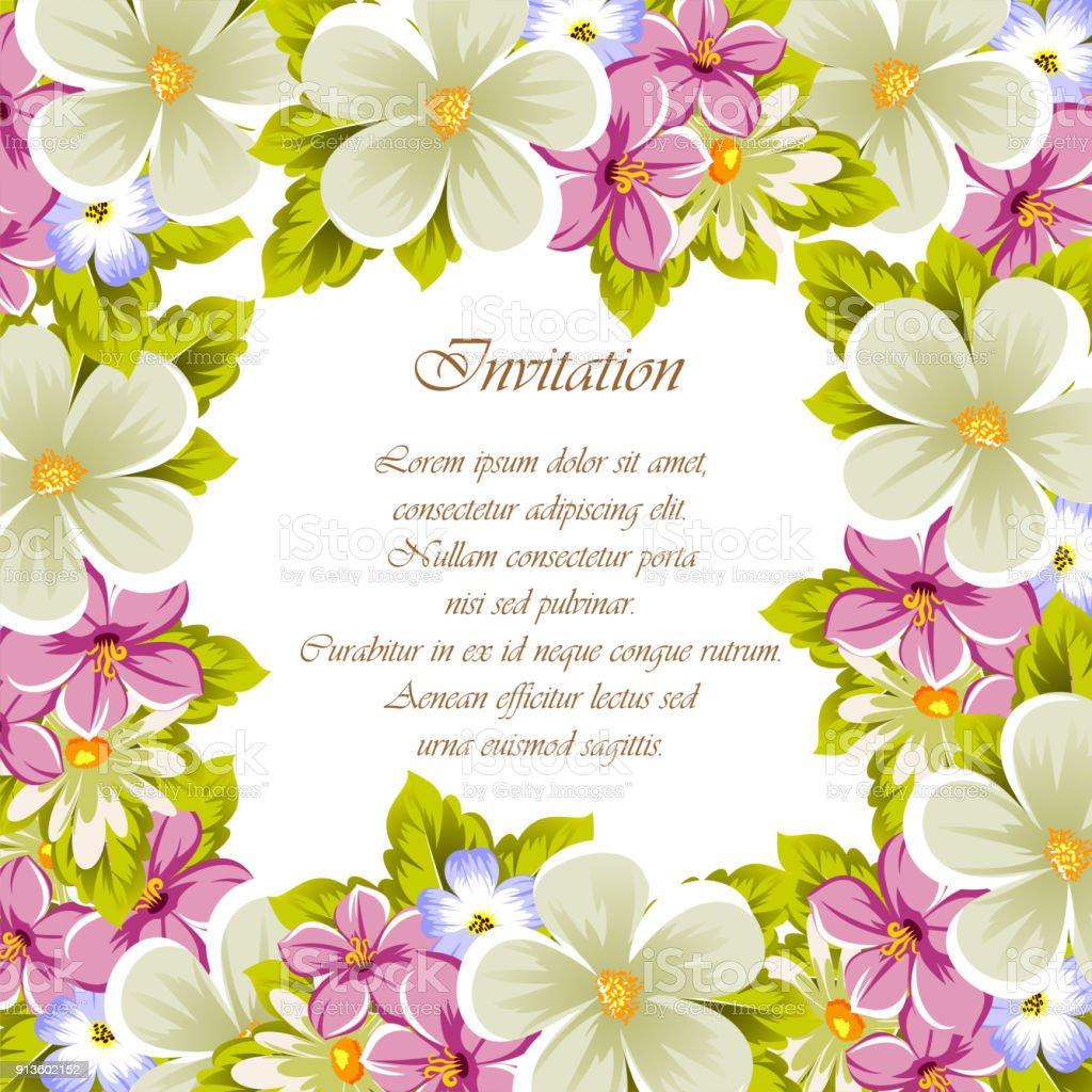 Félicitation Cadre De Fleurs Pour Les Textures De Conception