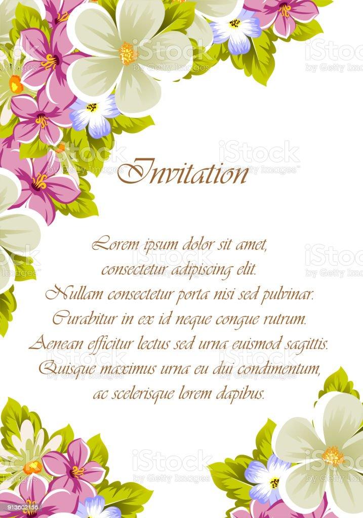 7d8e2b256b460 Ilustración de Felicitaciones Marco De Flores Para Texturas Diseño ...