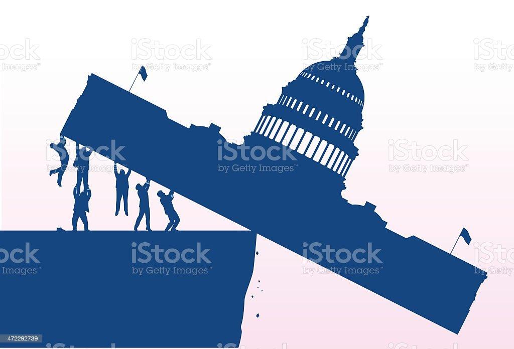 Congress Tipping vector art illustration