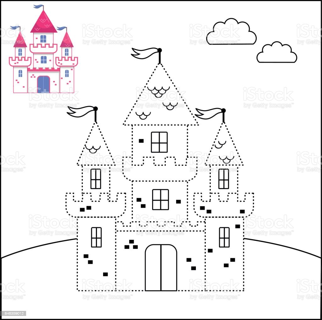Connect The Dots And Coloring Page Stock Vector Art More Images Of
