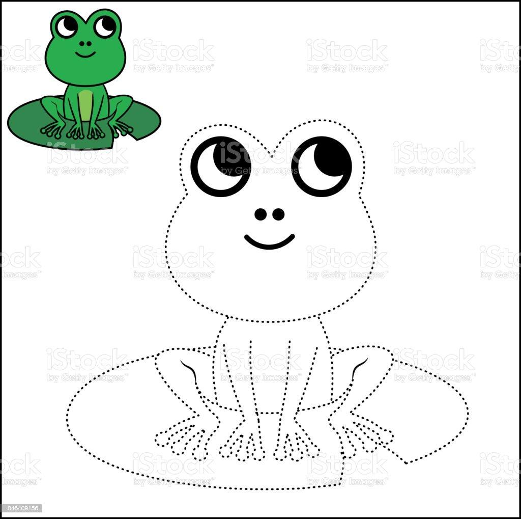 Nokta Ve Boyama Sayfası Bağlantısı Stok Vektör Sanatı Amfibiknin
