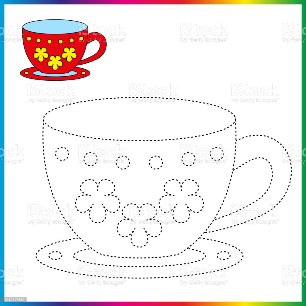 Connect The Dots And Coloring Page Worksheet Restore Dashed Line ...
