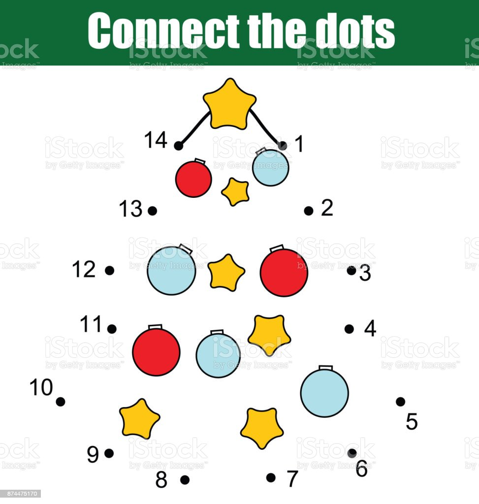 photo relating to Christmas Numbers Printable titled Communicate The Dots By means of Figures Youngsters Useful Recreation