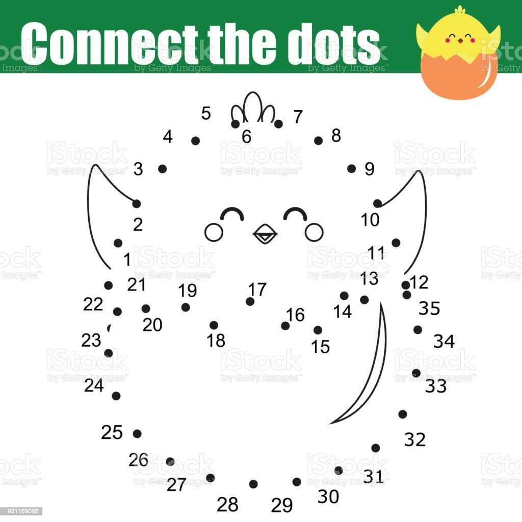 Verbinde Die Punkte Durch Zahlen Lernspiel Für Kinder Druckbare ...