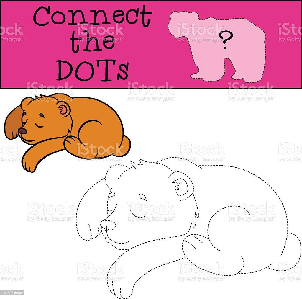 点つなぎます小さなかわいい寝室クマの赤ちゃんます お絵かき