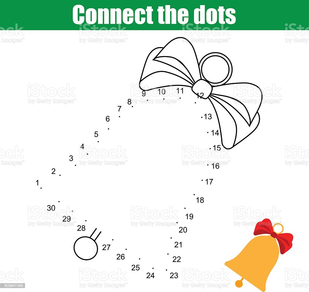 Connect The Dots Numbers Children Educational Game Printable ...