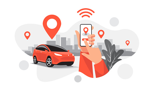 Connected Car Parking Share Ride Service Remote Controlled Via Smartphone App