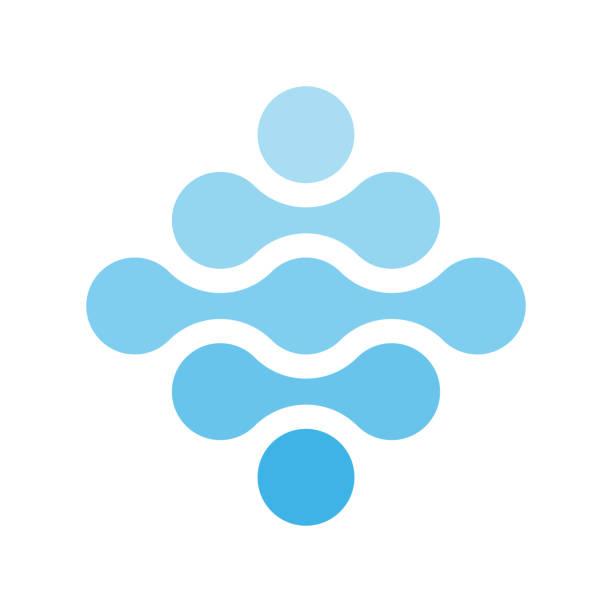 菱形の形で青の色合いの接続点。水のテーマ。抽象的なデザイン要素です。ベクトル図 - 生物学点のイラスト素材/クリップアート素材/マンガ素材/アイコン素材