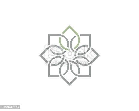 circular connected leaf