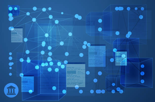 Connected Ledger Network Abstract Illustration Connected Ledger Network Abstract Illustration to avoid Bank Fraud as EPS 10 Fle accounting ledger stock illustrations