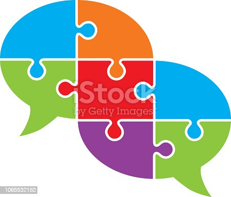 istock Connected Puzzle Speech Bubble 1065532152