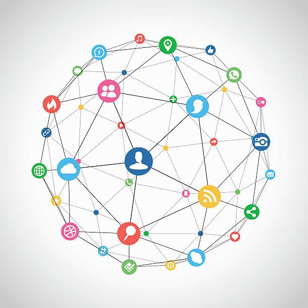 ソーシャルネットワーク接続 ベクターアートイラスト