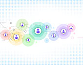 multi colored network background and design element.