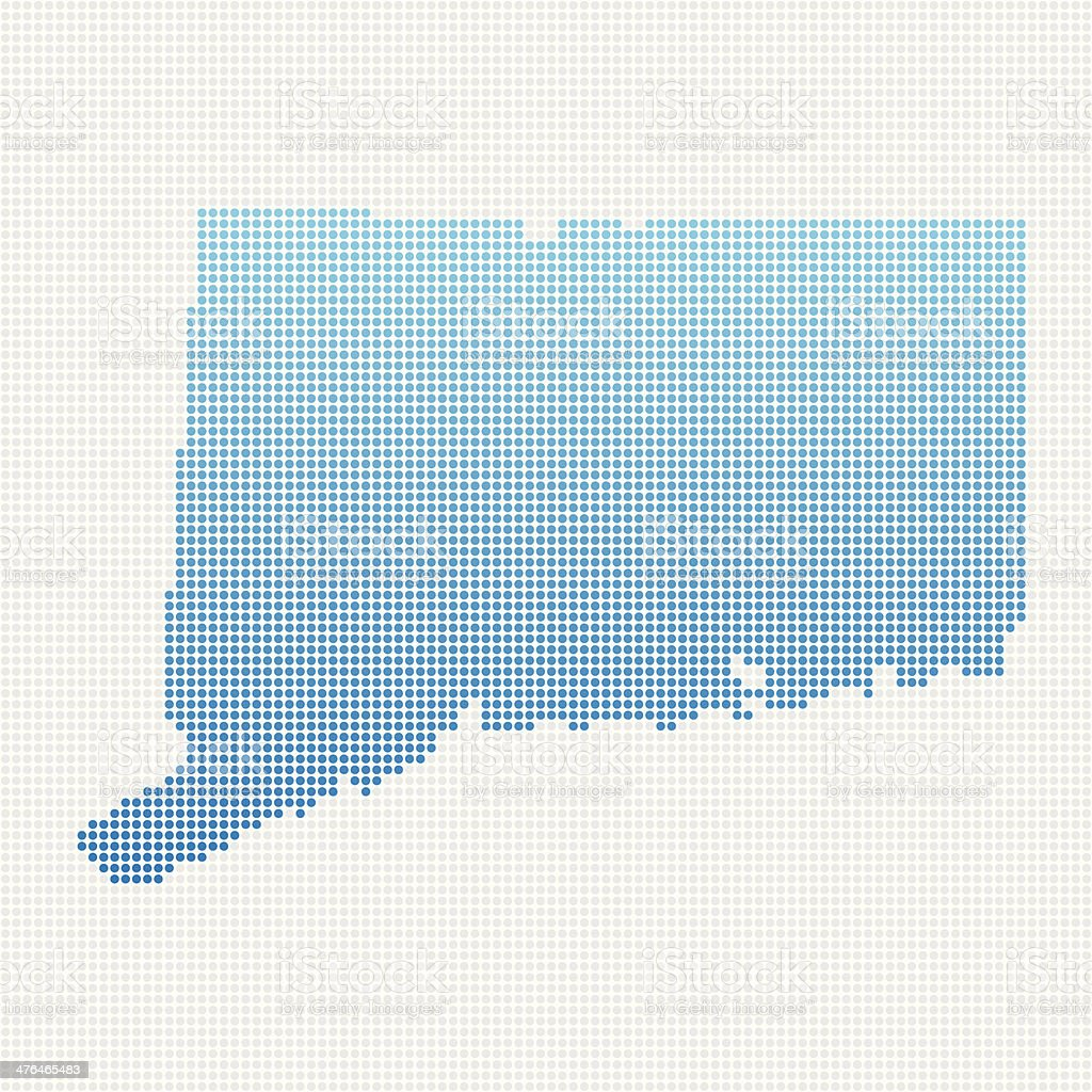 Connecticut Map Blue Dot Pattern royalty-free stock vector art