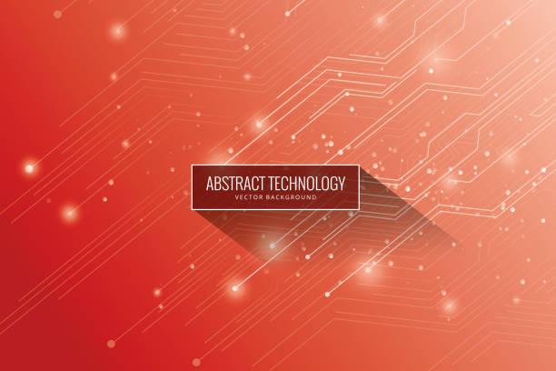 ilustrações de stock, clip art, desenhos animados e ícones de connection background - vr red background