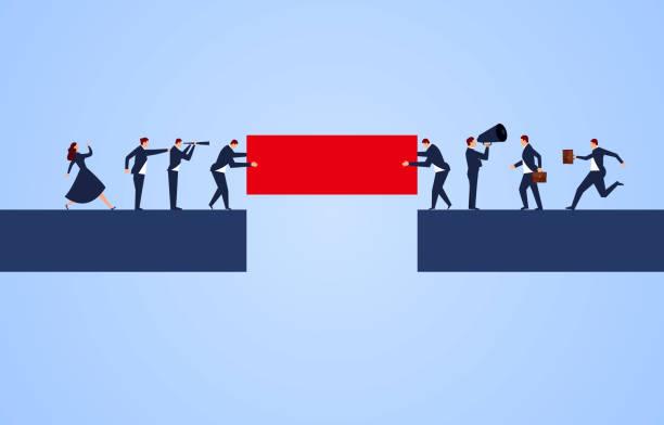 ilustraciones, imágenes clip art, dibujos animados e iconos de stock de conexión, cooperación empresarial - despedida