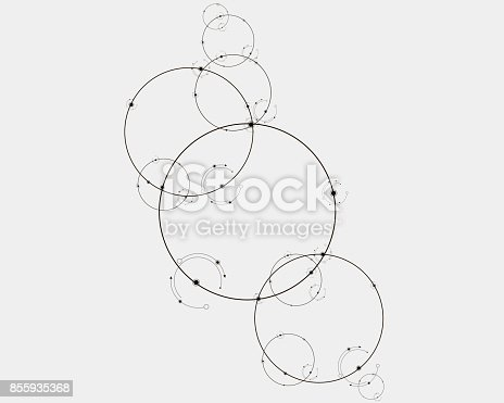 801051868istockphoto Connection concept. Geometric vector background for business or science 855935368