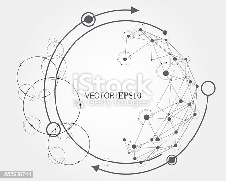 801051868istockphoto Connection concept. Geometric vector background for business or science 855936744