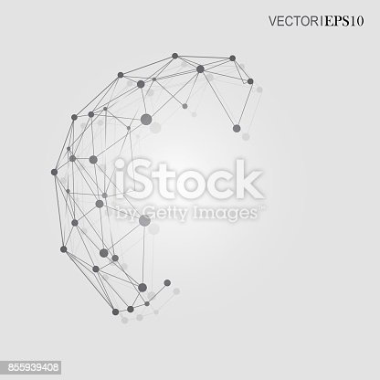 801051868istockphoto Connection concept. Geometric vector background for business or science 855939408
