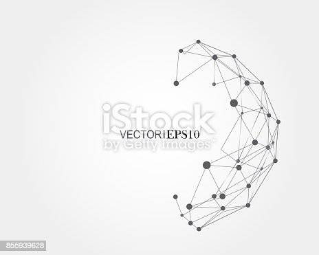 801051868istockphoto Connection concept. Geometric vector background for business or science 855939628