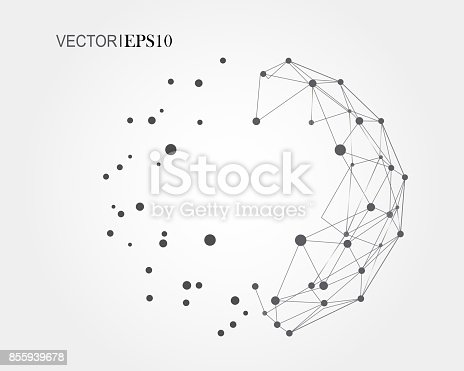 Connection concept. Geometric vector background for business or science