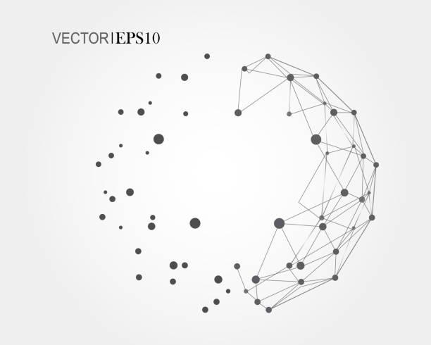Conceito de Conexão. Fundo de vetor geométrico para negócios ou ciência - ilustração de arte em vetor